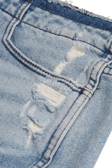 3x1 W4 Shelter Jeansshorts in Distressed-Optik
