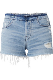 W4 Shelter distressed denim shorts