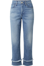 W3 Petal Higher Ground frayed high-rise slim-leg jeans