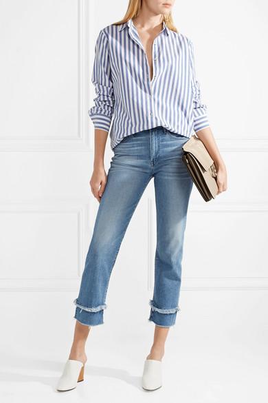 3x1 W3 Petal Higher Ground hoch sitzende Jeans mit schmalen Bein und Fransen