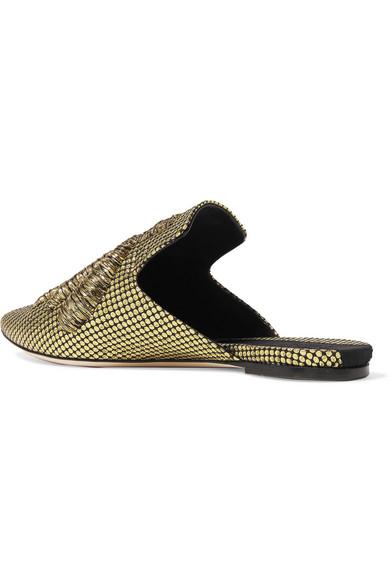 Sanayi 313 Ragno Slippers aus besticktem Canvas mit Fil Coupé in Metallic-Optik Sneakernews Online Online-Shopping Günstigen Preis Kühl Einkaufen Vorbestellung Für Verkauf c75QHFD