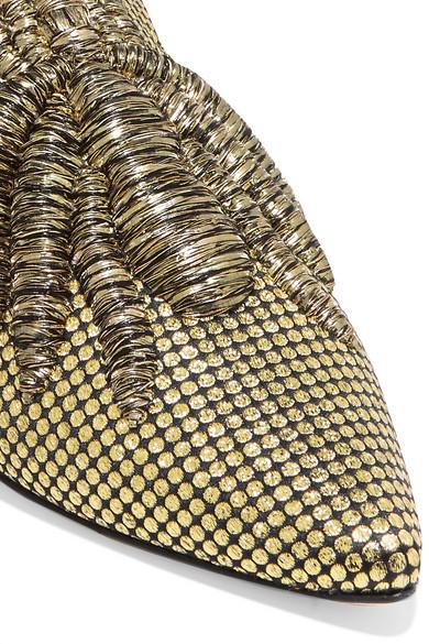 Sanayi 313 Ragno Slippers aus besticktem Canvas mit Fil Coupé in Metallic-Optik Billig Verkauf Mit Paypal Mit Kreditkarte Günstig Online eojCgg42