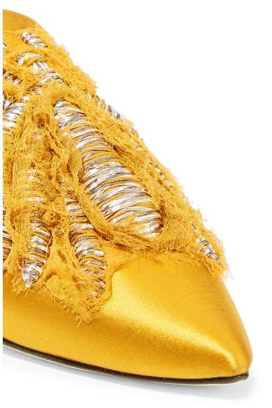 Sanayi 313 Ragno bestickte Slippers aus Satin