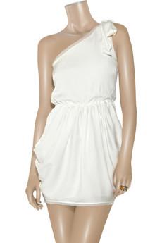 Alice + OliviaTessa asymmetric silk-blend dress