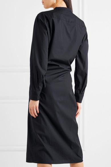 Robe Midi Asymétrique Lemaire En Popeline De Coton