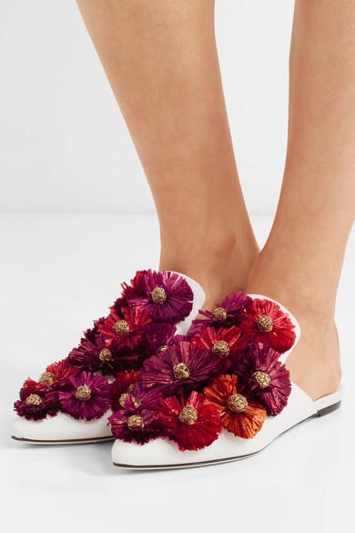 Billig Erkunden Günstiges Shop-Angebot Sanayi 313 Verzierte Slippers aus Faille Online Einkaufen 17lF2f7