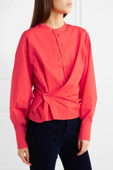 Lemaire Asymmetrisches Hemd aus Baumwollpopeline