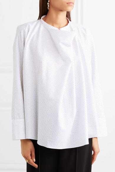 Lemaire Bluse aus Baumwollpopeline mit Nadelstreifen