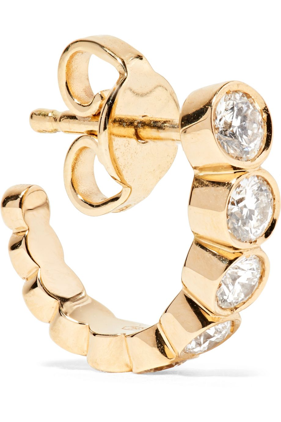 Sophie Bille Brahe Petite Boucle 18K 黄金钻石单只耳环