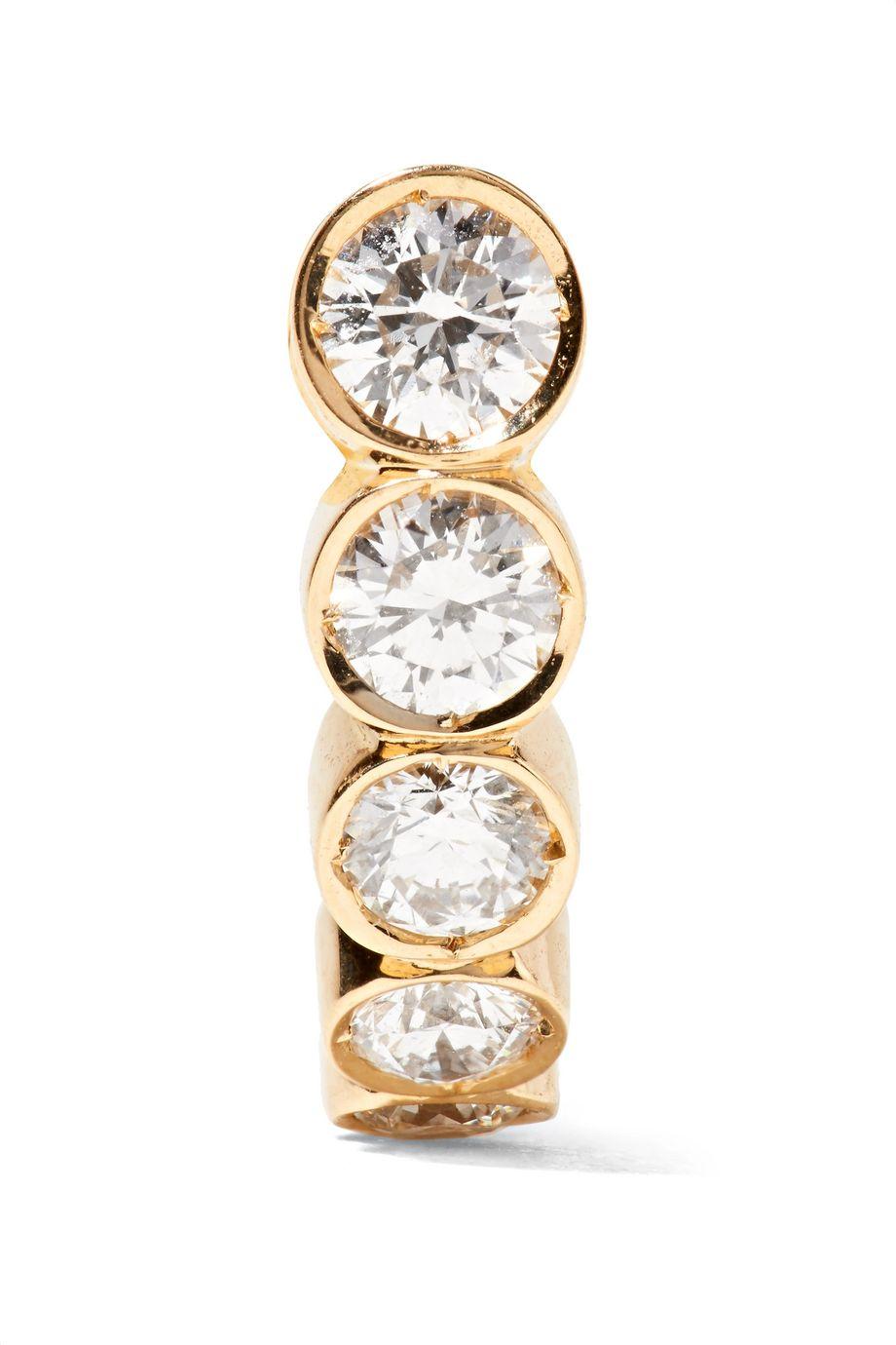 Sophie Bille Brahe Petite Boucle 18-karat gold diamond earring