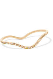 Grand L'Ocean 18-karat gold diamond two-finger ring