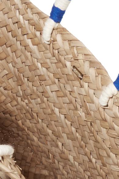 Kayu St Tropez Tote aus geflochtenem Seegras mit Pompons