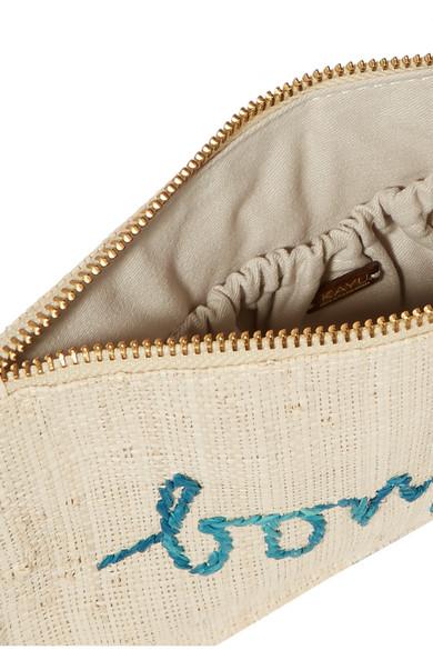 Kayu Verzierter Beutel aus geflochtenem Stroh