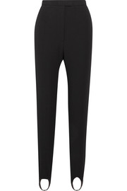 Burberry Stretch cotton-blend twill tapered stirrup pants