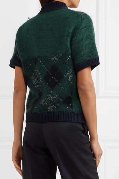 Burberry Pullover aus einer Wollmischung mit Argyle-Muster