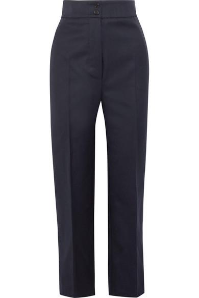 Burberry Hose mit geradem Bein aus Woll-Twill