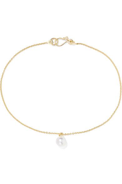 Sophie Bille Brahe - Palme De Perle 14-karat Gold Pearl Anklet