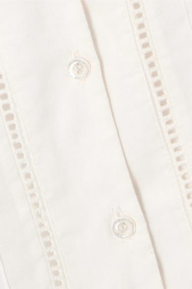 Lace-trimmed Cotton-voile Blouse - White Paul & Joe Discount Latest Cheap Price Outlet Reliable QtaANvtDS