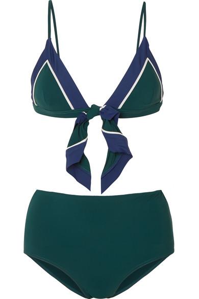 Rye Chi-Chi-Chi geknoteter Triangel-Bikini