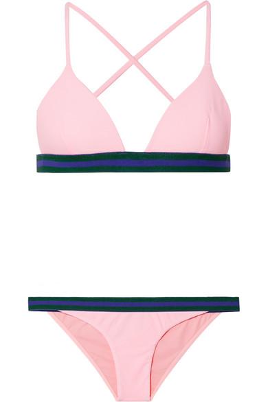 Rye Yo-Yo Triangel-Bikini aus Piqué mit Streifen