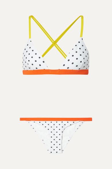 Rye Zing Triangel-Bikini mit Polka-Dots