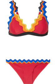 Cackle scalloped triangle bikini