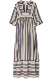 Ferrers striped cotton-blend maxi dress