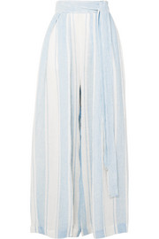 Kilmar striped linen-blend wide-leg pants