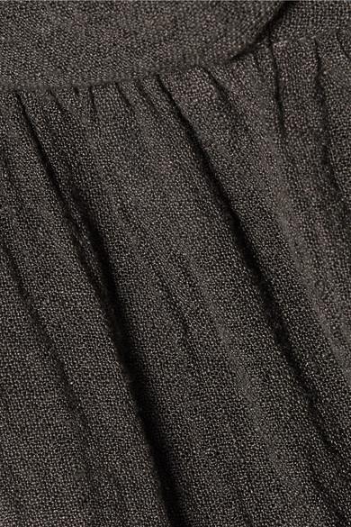 Three Graces London Reed Jumpsuit aus einer Leinenmischung in Knitteroptik mit Bändern