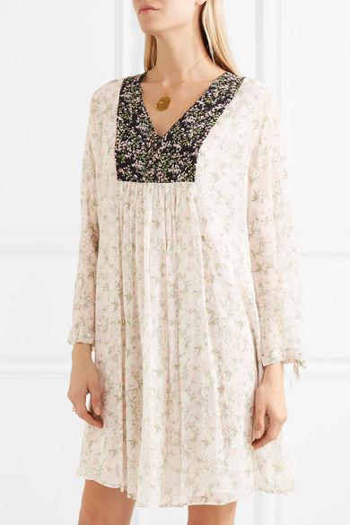 Paul & Joe Fauvette Kleid aus floral bedrucktem Seidenkrepon