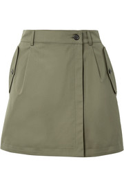 Zenitude wrap-effect cotton shorts