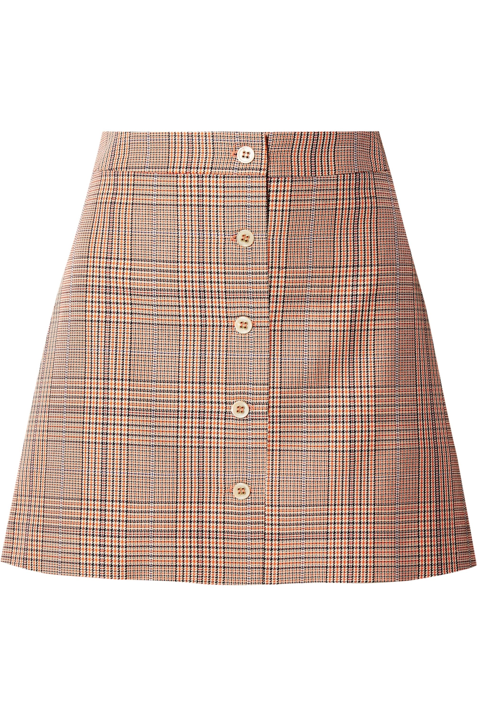 Paul & Joe Allumet houndstooth cotton mini skirt