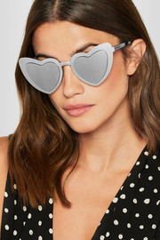 New Wave 196 Loulou heart-shaped silver-tone sunglasses