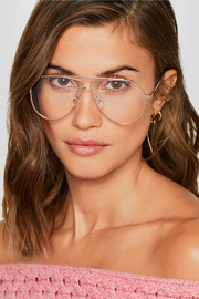Aviator-style gold-tone optical glasses