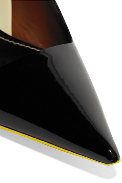 Proenza Schouler Slingback-Pumps aus Lackleder