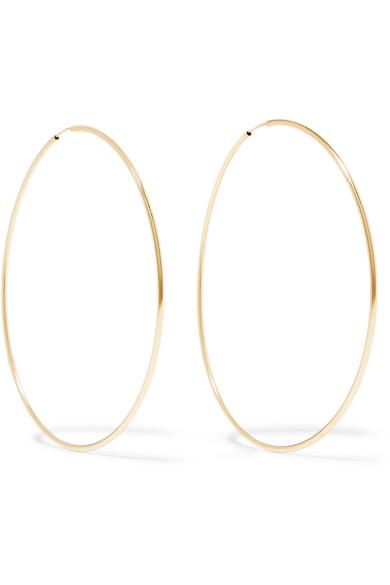 Loren Stewart Infinity 10 Karat Gold Hoop Earrings Modesens