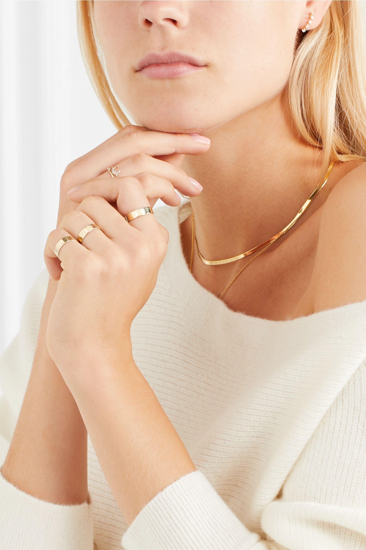 Loren Stewart Set of three 10-karat gold rings