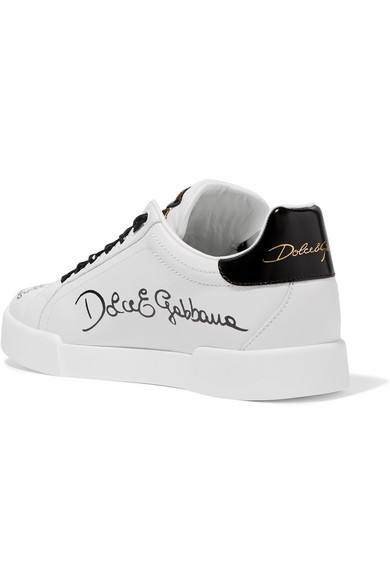 Dolce & Gabbana Leder | Sneakers aus bedrucktem Leder Gabbana mit Logo f68b3d