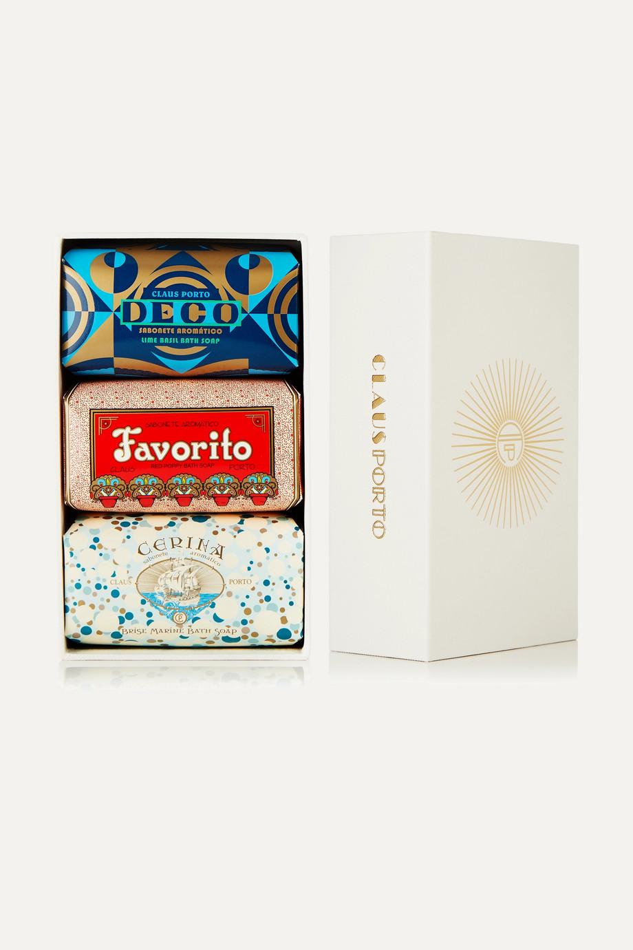 Claus Porto Deco Soap Set, 3 x 150 g – Set aus drei Seifen
