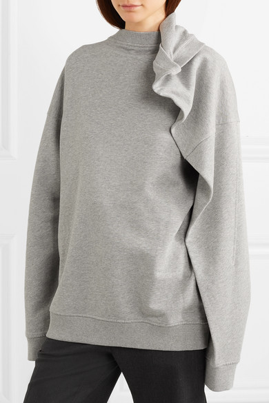 Y/PROJECT Oversized-Sweatshirt aus Baumwollfrottee
