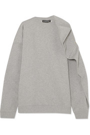 Y/PROJECT Oversized cotton-terry sweatshirt