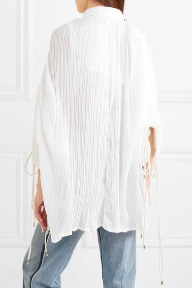Y/PROJECT Hemd aus plissiertem Voile