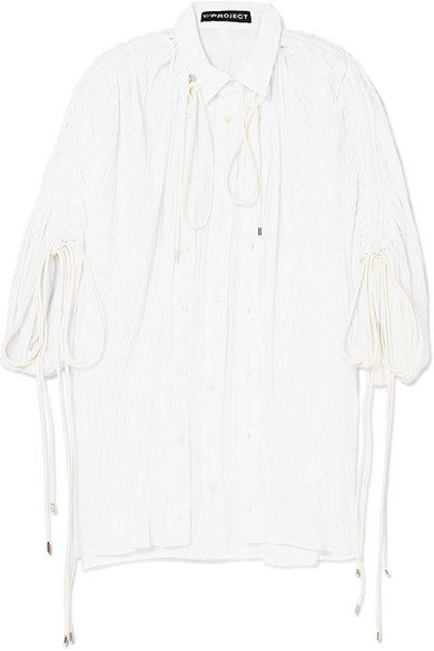 Y/PROJECT - Plissé-voile Shirt - White