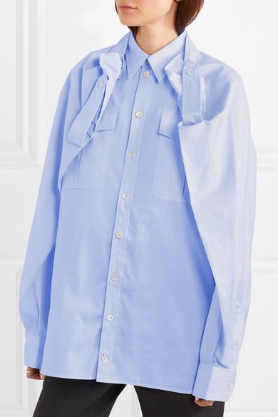 Y/PROJECT Hemd aus einer Baumwoll-Leinenmischung mit Cape-Überschlag