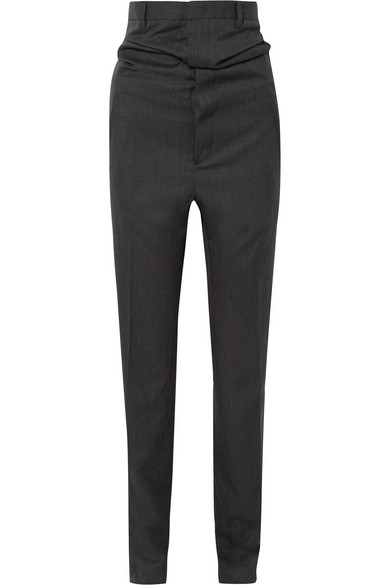 Y/PROJECT - Wool-twill Pants - Black