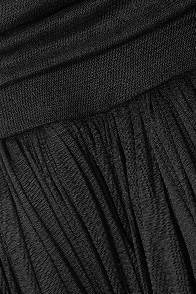 Dolce & Gabbana Robe aus gerafftem Seidentüll