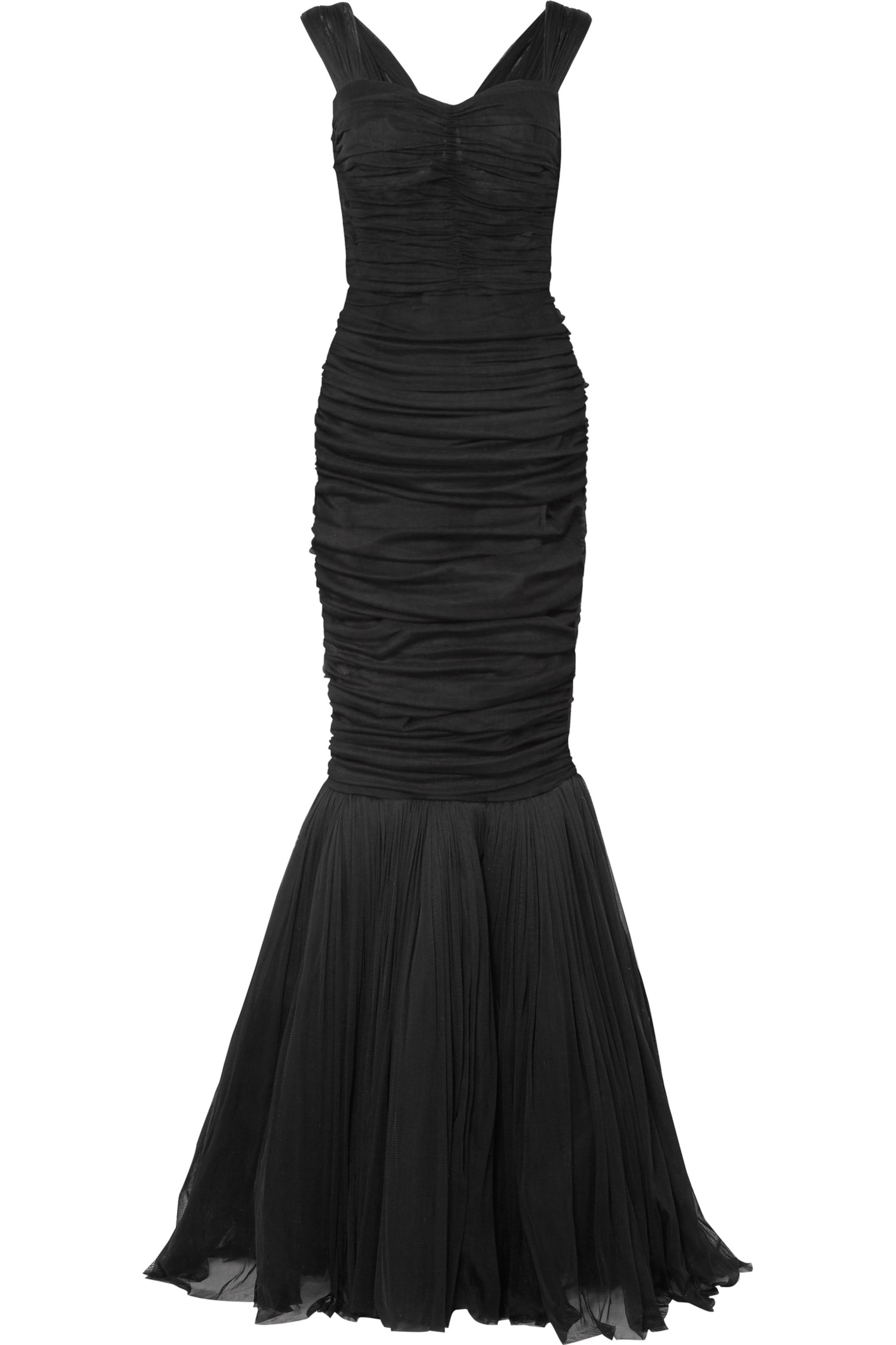 Dolce & Gabbana Ruched silk-tulle gown