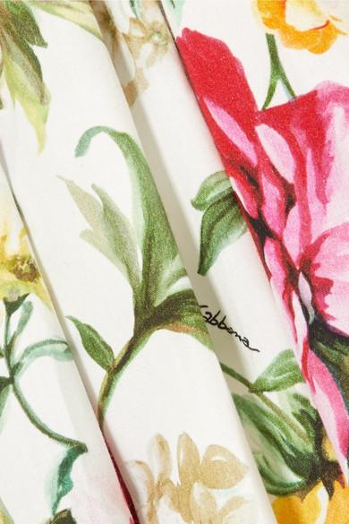 Dolce & Gabbana Baumwollkleid mit floralem Print