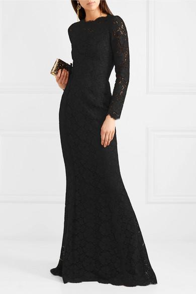Dolce & Gabbana Robe aus floraler Spitze
