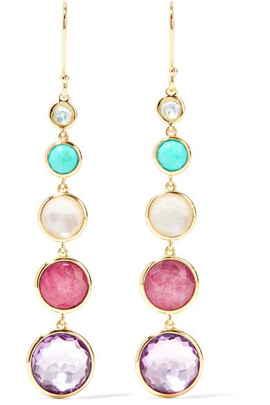 Ippolita Lollipop Lollitini 18-karat Gold Multi-stone Earrings WwNSG4L